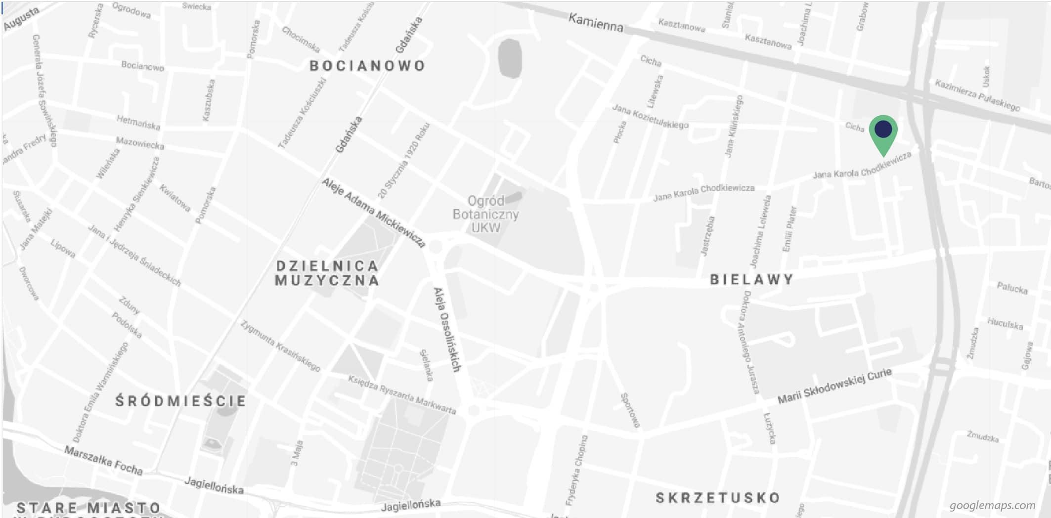 mapa bydgoszcz, inwestycja chodkiewicza, spechouse, miniapartamenty, mieszkania dla singli, mieszkania na sprzedaż, mieszkania dla inwestorów